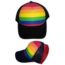 Rainbow Colors Gay Pride Truckers Baseball Caps  (FasCap10 ^)  eb-06729583