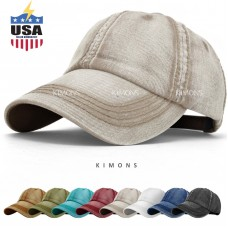 Seamed Washed Cotton Vintage Baseball Ball Cap Hat Dad Adjustable Dyed Low Denim  eb-54788825