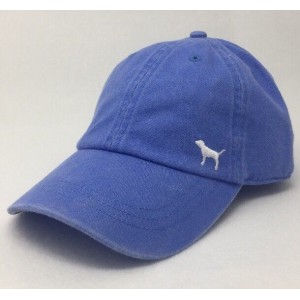 Victoria's Secret PINK Baseball Cap Periwinkle Blue Hat White Puppy Dog Logo NEW  eb-98665964