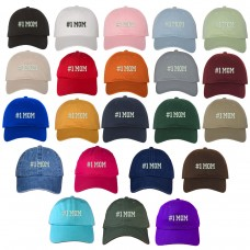 #1 MOM Embroidered Baseball Cap Many Colors Available   eb-26863344