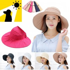 Adjustable Hats For Mujer 50+ Cap Beach Flap Up Roll UPF Brim Pool Cover  eb-68868497