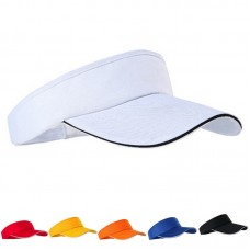 AdjustableUnisex Hombre Mujer Plain Sun Visor Sports Golf Tennis Breathable Cap Hat  eb-08711734