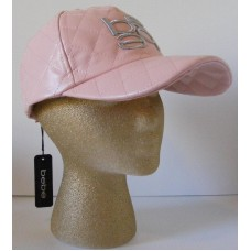 Bebe Hat Cap Baseball Faux Leather Bebe Logo Authentic 100% Black Pink Gray  eb-14170749