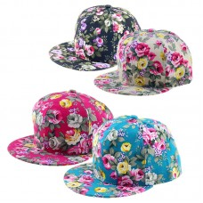 Hombre Mujer Floral Flower Snapback HipHop Hat Flat Galaxy Adjustable Baseball Cap  eb-92818811