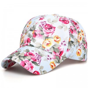 Cotton Floral Printed Baseball Caps Summer Snapback Hat Outdoor Sunbonnet   eb-25453148