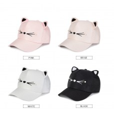 Mujers Girls Fashion Cute Cat Ears Pearl Baseball Cap Visor Hat Snapback  eb-26947894