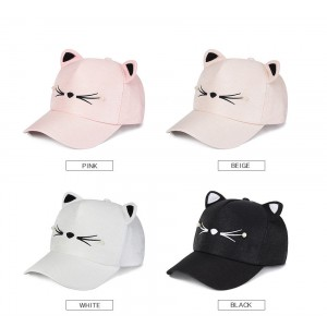 s Girls Fashion Cute Cat Ears Pearl Baseball Cap Visor Hat Snapback  eb-36321228