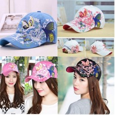 New Summer Mujer Ladies Butterfly Embroider Baseball Cap Adjustable Snapback Cap  eb-14862889