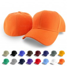 Plain Fitted Curved Visor Baseball Cap Solid Color Blank Color Caps Polo Hat JM  eb-93729258