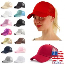US Ponytail Baseball Cap Mujer Stylish Ponycap Messy High Bun Ponytail Snapback  eb-79841916