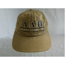 Vintage Alpha Delta Pi Sorority Baseball Cap Dad Hat Leather Strapback Split Bar  eb-17963932