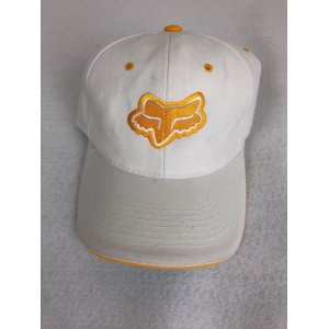 FOX RACING ONE SIZE ADJUSTABLE BASE BALL CAP HAT. Rare White/Yellow Motorsports  eb-75424111