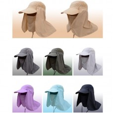 USA Hiking Fishing Hat Outdoor Sport Sun Protection Neck Face Flap Cap Wide Brim  eb-13136653