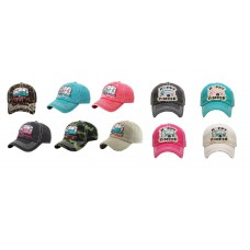 ADJUSTABLE HAPPY CAMPER BASEBALL CAP HAT BLACK BLUE PINK BEIGE/OFF WHITE CAMO  eb-84769574
