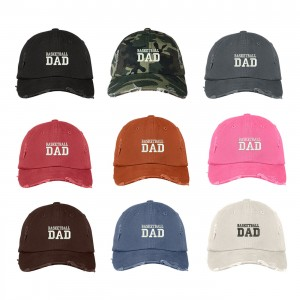 BASKETBALL DAD Distressed Dad Hat Embroidered Sports Parents Cap  Many Colors  eb-63279597