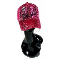 Barbie Hot Pink Glitz Sequin Adjustable Cap/Mesh Backing ~ Shiny Lettering  eb-29559650
