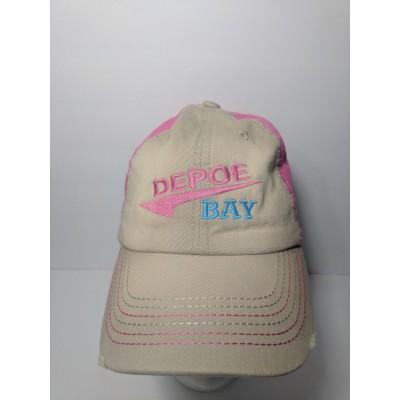 DEPOE BAY Oregon lincoln county pacific hat baseball cap women's embroidered  eb-22225181