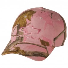 Mujer's Chevy Bowtie Realtree Hardwoods Cotton Pink Camo Hat  eb-39737013