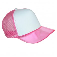New CTM Translucent Color Brim Baseball Cap with Mesh Back  eb-54105445