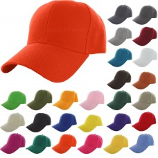 Plain Baseball Cap Solid Color Blank Curved Visor Hat Adjustable Polo Caps New  eb-92045099