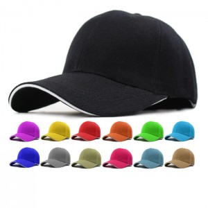 Hot Baseball Hat Plain Cap Blank Curved Visor Hats   Metal Solid Color  eb-62628745