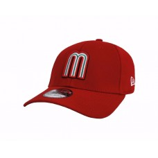 NEW ERA 39Thirty WBC Mexico Red Stretch Fitted Adult Beisbol Baseball Cap Hat  eb-15312883