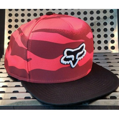New Fox VICIOUS Baseball Hat 14880101OS One Size Snapback Acid Red w/Black  eb-72168384