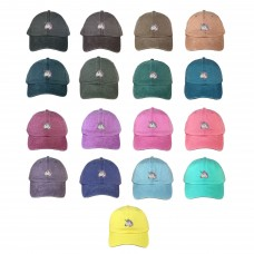 UNICORN Washed Dad Hat Embroidered Unicorn Emoji Cap Hats  Many Colors  eb-58329111