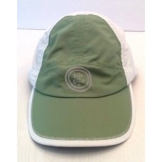 """Life Is Good"" Cap Hat Mujer's Green & White 100% Nylon Adjustable Tie  eb-59018141"